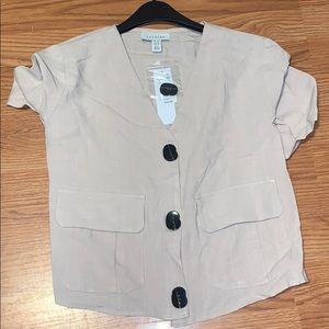 Top shop three button top